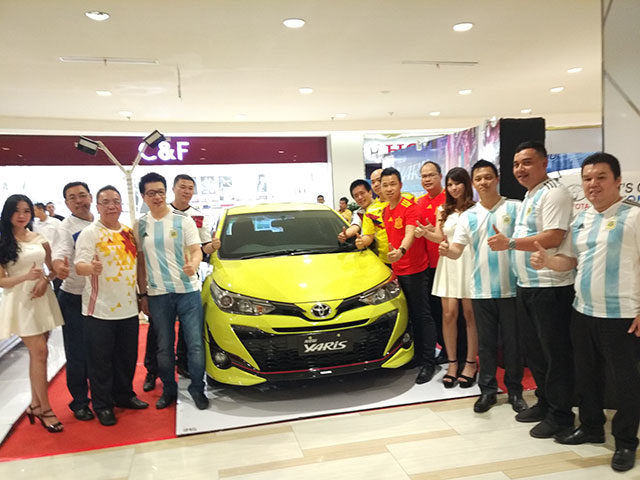 New Yaris dilaunching di Centre Point, Medan, Rabu (14/03/2018). (akses.co/din)